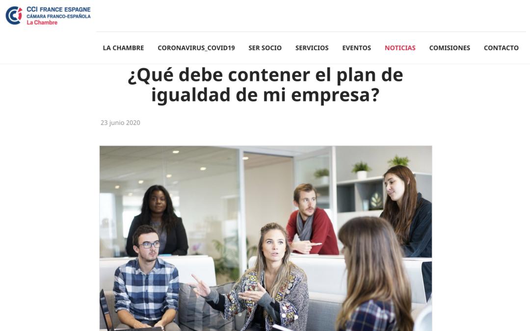 Hablamos con la Cámara Franco-Española sobre Planes de Igualdad